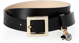 Kate Spade Black Charm-Accented Leather Belt