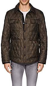 Rainforest MEN'S HEATED DIAMOND-QUILTED JACKET-OLIVE SIZE XL