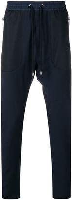 Les Hommes Urban mesh detail track trousers