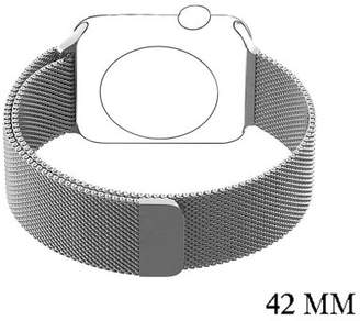 VicTsing Stainless Steel Mesh Milanese Loop with Adjustable Magnetic Closure Replacement Band for Apple iWatch Series 2 Series 1 and Edition 38mm 42mm (42mm,Silvery)