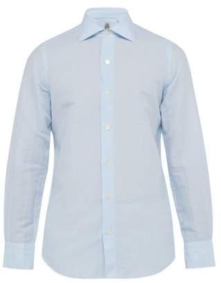 dafb8e649b Finamore 1925 - Seattle Cotton And Linen Blend Shirt - Mens - Blue