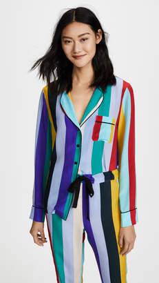 Diane von Furstenberg Long Sleeve PJ Top