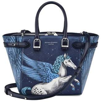 Aspinal of London Mini Marylebone Tote In Smooth Forget Me Not