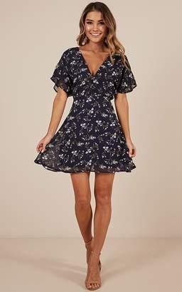 Showpo All Smiles Dress in navy floral - 4 (XXS) Dresses On Sale