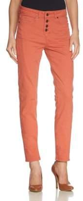 Object Women's Linda Canvas Pant - orange - UK 8
