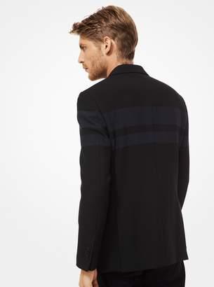 Michael Kors Striped Woven Blazer