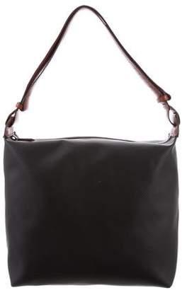 Bottega Veneta Perforated Canvas Crossbody Bag