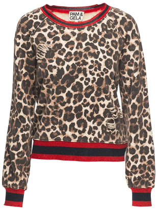 Pam & Gela Leopard Print Sweatshirt $175 thestylecure.com