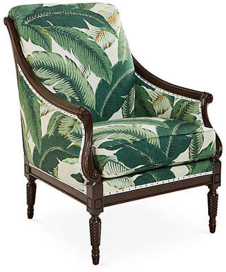 Michael Thomas Collection Harwood Accent Chair - Palm Leaf