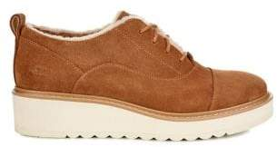 UGG Oxford Suede Johanna Spill Seam Wedge Sneakers