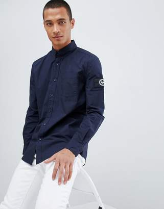 Hype shirt in navy with arm logo