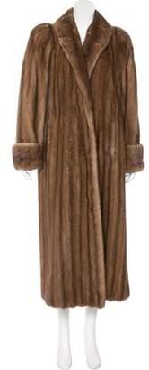 Shawl-Collar Mink Coat