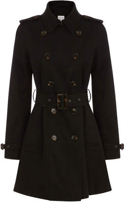 Warehouse Double Breasted Trench Coat
