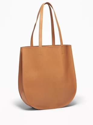 Old Navy Faux-Leather Half-Moon Tote for Women