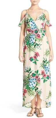 Women's Fraiche By J Cold Shoulder High/low Maxi Dress $112 thestylecure.com