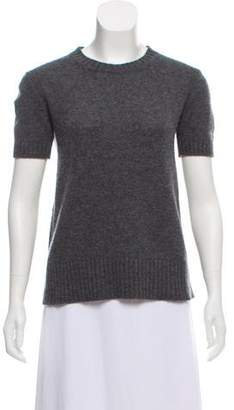 Prada Short Sleeve Crew Neck Sweater