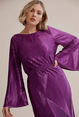 Country Road Pleated Gathered Waist Dress