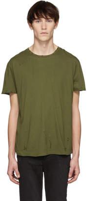 R 13 Khaki Destroyed T-Shirt