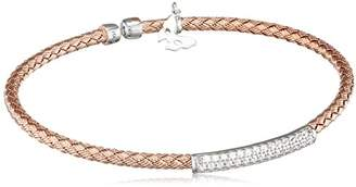 Vamp London Entwined Dainty 18ct Rose Gold Plated Sterling Silver Bracelet ENB004-RG-C