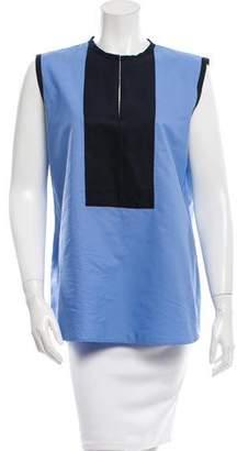 Lanvin Sleeveless Colorblock Top