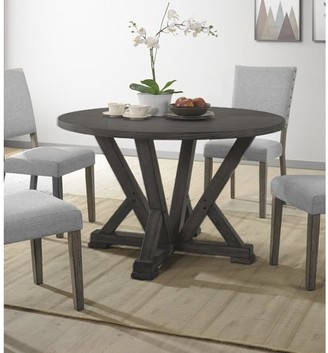 Best Master Furniture Anna Antique Grey Round Dining Table Only