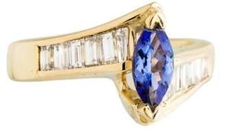 Ring 14K Tanzanite & Diamond