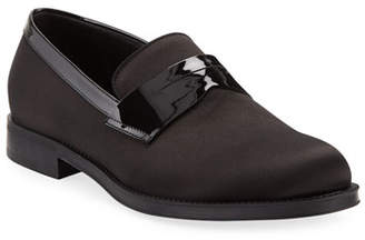 Giorgio Armani Men's Satin/Patent Dress Loafers