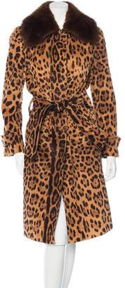 Dolce & Gabbana Fur-Trimmed Leopard Print Coat $575 thestylecure.com