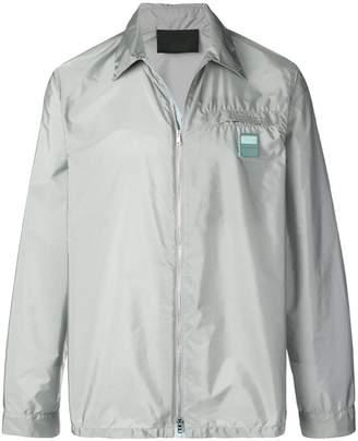 Prada logo patch lightweight jacket