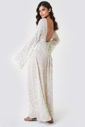 Na Kd Boho Open Back Glitter Maxi Dress