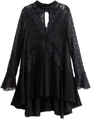 'Merle' Frilly Lace Crochet Tunic