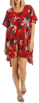 Regatta NEW Kimono Printed Tropical Red