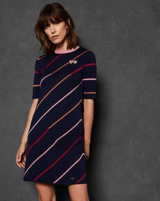Ted Baker PELINOR Striped knit dress