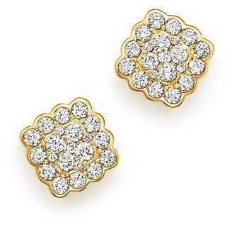 Bloomingdale's Diamond Cluster Square Earrings in 14K Yellow Gold, 0.70 ct. t.w. - 100% Exclusive
