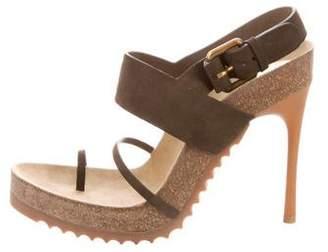 Stella McCartney Vegan Suede Ankle-Strap Sandals