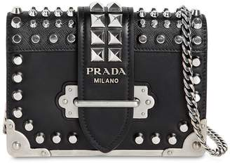 Prada Small Cahier Studded Leather Bag