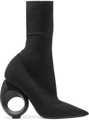 Burberry - Stretch-knit Boots - Black $925 thestylecure.com