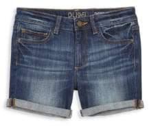 DL Premium Denim Girl's Piper Cuffed Denim Shorts