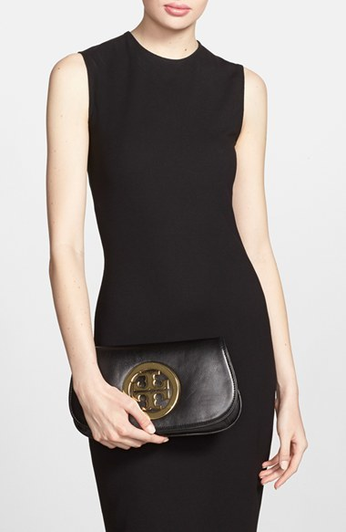 Tory Burch Logo Flap Clutch