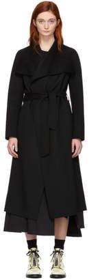 Mackage Black Wool Mai Wrap Coat