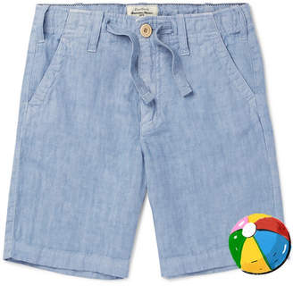 Hartford Boys Ages 2 - 12 Linen-Chambray Drawstring Shorts