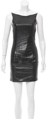 Theyskens' Theory Leather Mini Dress