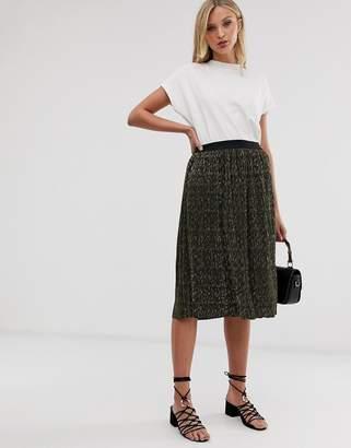 Ichi metallic skirt