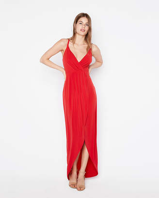 Express Surplice Wrap Maxi Dress