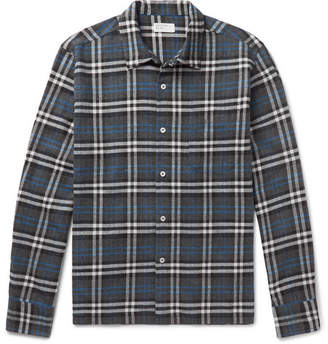Universal Works Checked Brushed-Cotton Shirt