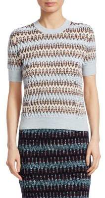 Carven Multicolored Wool-Blend Knit Sweater