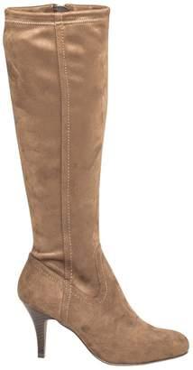 Le Château Women's Almond Toe Knee-High Heeled Boot