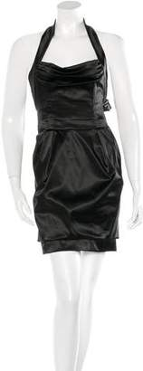 Dolce & Gabbana Satin Halter Dress