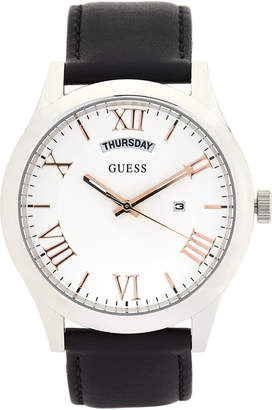 GUESS W0792G8 Silver-Tone & Black Watch