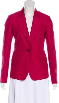 Salvatore Ferragamo Long Sleeve Peak-Lapel Blazer